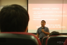"Mr. Robert O. Minguez II (BS ECE '01), director of Xinyx Design Consultancy and Services, Inc. talked about ""Engineering the Possibilities: A Career Perspective in the Philippines."""