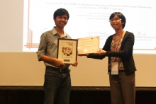 Brian Esteves, as he received the Best Paper Award for their research-Investigation of Class J-Tuned Doherty Amplifier