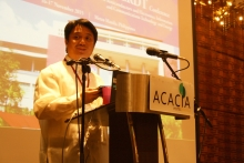 Director of UP EEEI, Dr. Joh Richard Hizon, as he delivers his opening message