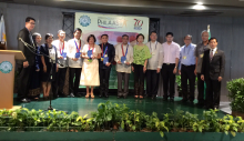 Dr. Marciano with other awardees at the International Conference on Science & Technology (S&T) Education and the 64th PhilAAST Annual Convention (Photo by organizers, thru Dr. Marciano)