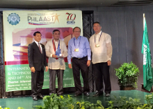 Dr. Marciano, Jr. of the UP EEEI received the David M. Consunji Award for Engineering Research from PhilAAST (Photo by organizers, thru Dr. Marciano)