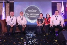 The five awardees of Manila Water Foundation Engineering Excellence Award 2015 (Photo by MWF fb page)