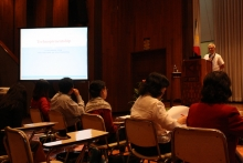 """""""Is the venture a good investment?"""" said Dr. Sison during his winning presentation on technopreneurship."""
