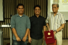 Dr. Alarilla as the Centennial lecture series and seminars inaugural speaker