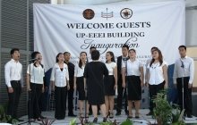 The UP Concert Chorus at the UP-EEEI Building Inauguration