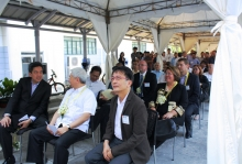 Guests during the UP-EEEI grand inauguration of its new building, 2 of its endowed labs, and ceremonial marker unveiling of its endowed lecture hall