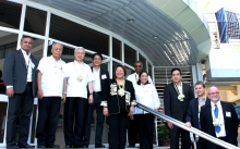 Guests of honor from DOST, UP, and industry partners Artesyn Embedded Technologies, MERALCO, and Nokia during the UP-EEEI Building Inauguration, March 19, 2015