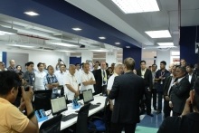 Mr. Drobcsak gave a brief message about the lab during the Nokia Telecommunications Engineering Lab Inauguration