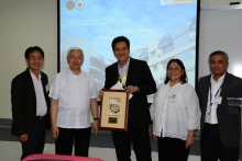 Mr. Segismundo of MERALCO as he receives the token of appreciation during the UP-EEEI Building Inauguration (Photo by DIO)