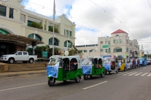 Electric vehicle motorcade during the CharM Project Launching in Cauayan City, Isabela last May 22, 2017