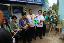 Ceremonial ribbon cutting during the CharM Project Launching in Cauayan City, Isabela last May 22, 2017. From left to right: Dr. Precila Delima, OIC ISU-CC; Dr. Emilia Martinez, ISU OIC President; Cauayan City Administrator as Representative of Mayor Bernard Dy; Engr. Sancho Mabborang, Regional Director DOST Region 2; Dr. Ricmar Aquino, ISU President; Engr. Marcelo Miguel, Provincial Director DOST Isabela.
