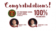 Two alumni bag top spots in Electronics Engineer Board Exam; UPD is top performing school