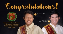 Two alumni top April 2016 ECE board exam; UPD is top performing school