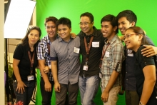 EEEI alumni with admin staff as they enjoy the photo booth, during the 13th Alumni Homecoming