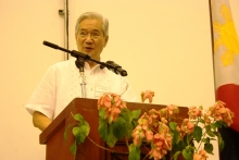 """""""Your Alumni is always there to lend a helping hand,"""" said keynote speaker Mr. Jesus """"Chito"""" P. Francisco"""